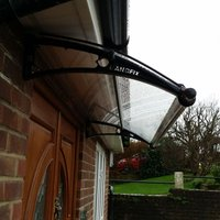Canofix Uk - CANOFIX Door Canopy PC 2000 Width x 650 Projection / DIY Polycarbonate Cantilever Awning/Window Door Pathway Walkway Garden Shed Porch