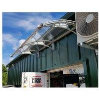 CANOFIX Door Canopy PC 2500 Width x 1000 Projection / DIY Polycarbonate Cantilever Awning/Window Door Pathway Walkway Garden Shed Porch Patio (Grey