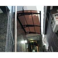 Canofix Uk - CANOFIX Door Canopy PC 2500 Width x 1270 Projection / DIY Polycarbonate Cantilever Awning/Window Door Pathway Walkway Garden Shed Porch