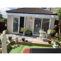 Canofix Uk - CANOFIX Door Canopy PC 3000 Width x 1270 Projection / DIY Polycarbonate Cantilever Awning/Window Door Pathway Walkway Garden Shed Porch