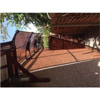 Canofix Uk - CANOFIX Door Canopy PC 3500 Width x 1000 Projection / DIY Polycarbonate Cantilever Awning/Front Window Back Door Pathway Walkway Garden