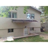 CANOFIX Door Canopy PC 3500 Width x 1270 Projection / DIY Polycarbonate Cantilever Awning/Window Door Pathway Walkway Garden Shed Porch Patio (Black