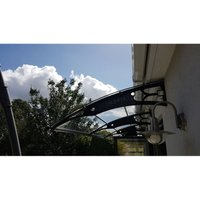 Canofix Uk - CANOFIX Door Canopy PC 3500 Width x 1270 Projection / DIY Polycarbonate Cantilever Awning/Window Door Pathway Walkway Garden Shed Porch