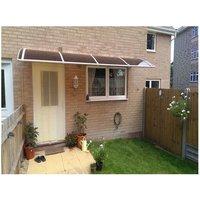 Canofix Uk - CANOFIX Door Canopy PC 4000 Width x 1000 Projection / DIY Polycarbonate Cantilever Awning/Front Window Back Door Pathway Walkway Garden