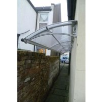 CANOFIX Door Canopy PC 4000 Width x 650 Projection / DIY Polycarbonate Cantilever Awning/Front Window Back Door Pathway Walkway Garden Shed Porch