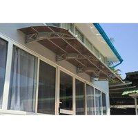 CANOFIX Door Canopy PC 5500W x 1500P / DIY Polycarbonate Cantilever Awning/Window Door Pathway Walkway Garden Shed Porch Patio (Grey Bracket - Bronze