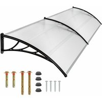 Tectake - Canopy transparent - door canopy, awning, front door canopy - 200 cm - transparent
