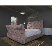 Furniturebox Uk - Canterbury Blush Alaska Double Bed Frame