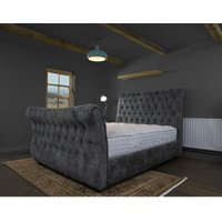 Furniturebox Uk - Canterbury Coal Alaska Double Bed Frame