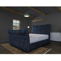 Furniturebox Uk - Canterbury Midnight Alaska Double Bed Frame