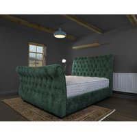 Canterbury Teal Alaska Double Bed Frame