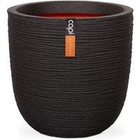 Capi Egg Planter Nature Rib 54x52 cm Black KBLR935 - Black