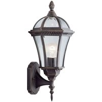 Capri - outdoor wall light up light rustic brown - SEARCH LIGHT