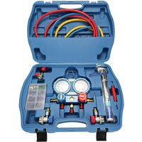 Car Air Conditioning Refrigerant Freon Double Valve Pressure Gauge YS023