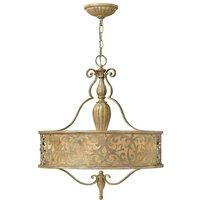 Elstead Lighting - Elstead Carabel - 3 Light Round Ceiling Pendant Chandelier Brushed Champagne, E27