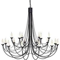 Elstead Carisbrooke - 18 Light Candle Chandelier Black