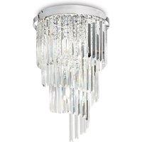 Ideal Lux Carlton - 8 Light Ceiling Light Chandelier Chrome, E14