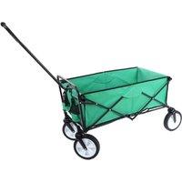 Mendler - Carrello carriola pieghevole HWC-E38 acciaio tessuto senza tetto verde