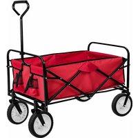 Carrello portapacchi pieghevole - carrello pieghevole - rosso - red - TECTAKE