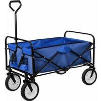 Tectake - Carrello portapacchi pieghevole - carrello pieghevole - blu - blau