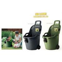 FV - Carriola multiuso helpy cart portata 60kg - capacita' 50lt colore: verde