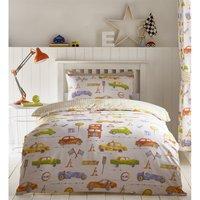 Bedmaker - Cars Transport Single Duvet Cover Set Reversible Bedding Childrens Boys Bedroom