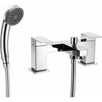 Cascade Edge Bathroom Bath Shower Mixer Tap Handset Modern Twin Lever Chrome