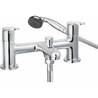 Cascade Spiral Bathroom Bath Shower Mixer Tap Handset Modern Twin Lever Chrome