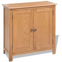 Cassius Solid Oak Highboard by August Grove - Brown