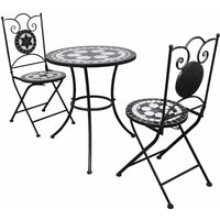 Castaneda 2 Seater Bistro Set by Dakota Fields - Black