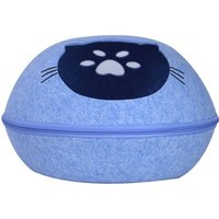 Asupermall - Cat Pet Cave Cat Cave Bed Cat Bed Blue