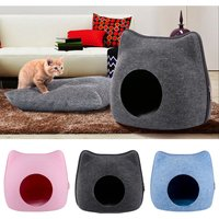 Asupermall - Cat Pet Cave Cat Cave Bed Cat Bed CLY038 Blue
