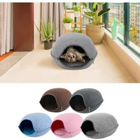 Cat Pet Cave Cat Cave Bed Cat Bed for Cats Kittens Pets,Coffee - ASUPERMALL