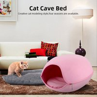 Cat Pet Cave Cat Cave Bed Cat Bed for Cats Kittens Pets,Pink - ASUPERMALL
