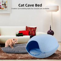 Cat Pet Cave Cat Cave Bed Cat Bed for Cats Kittens Pets,Blue - ASUPERMALL