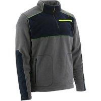 Mens Argo Quarter Zip Fleece Jacket (L) (Dark Shadow) - Caterpillar