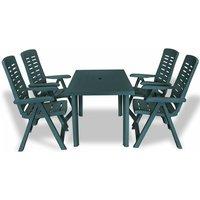 Cates 4 Seater Dining Set by Dakota Fields - Green