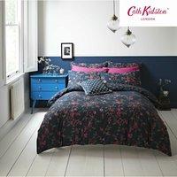Cath Kidston Millfield Blossom Navy 220TC 100% Cotton King Duvet Cover Set