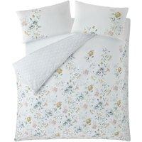 Cath Kidston Pembrooke Rose White 200TC 100% Cotton King Size Duvet Cover Set