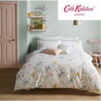 Cath Kidston Pembrooke Rose White 200TC 100% Cotton Single Duvet Cover Set