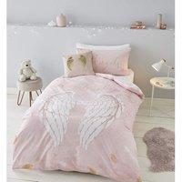 Angel Blush Single Duvet Cover Set Bedding Bed Linen - Catherine Lansfield