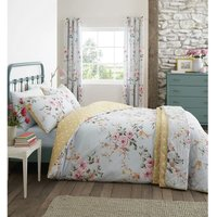 Catherine Lansfield Canterbury Duck Egg King Size Duvet Cover Set Easy Care Bedding