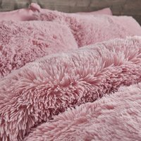 Catherine Lansfield Cuddly Single Duvet Cover Set Blush