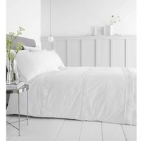 Delicate Lace White Single Duvet Cover Set Luxurious Bedding Bed Set - Catherine Lansfield
