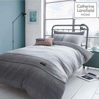 Catherine Lansfield Denim Duvet Cover Set - Grey - King Size - BIANCA