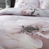 Catherine Lansfield Dramatic Floral Easy Care Double Duvet Set Blush