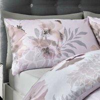 Catherine Lansfield Dramatic Floral Easy Care Single Duvet Set Blush