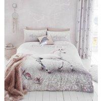 Bianca - Catherine Lansfield Enchanted Unicorn Easy Care Single Duvet Set Pink