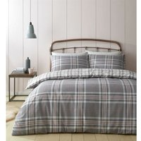 Kelso King Size Duvet Cover Set Pink/Grey - Catherine Lansfield