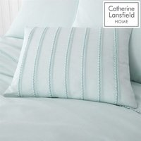 Catherine Lansfield Pom Pom Mint Single Duvet Cover Set Easy Care Bedding Set